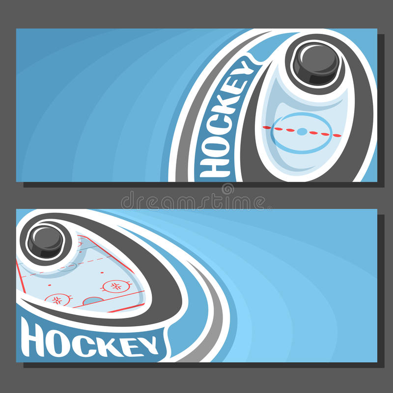 Wektorowi sztandary dla Lodowego hokeja ilustracji