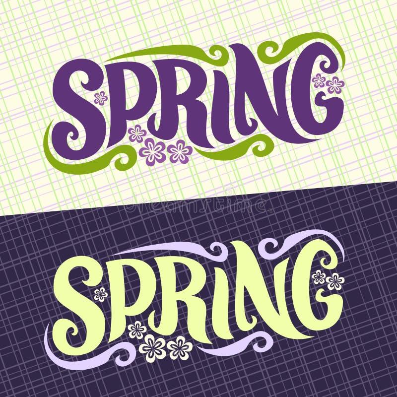 Download Wektorowi Sztandary Dla Wiosna Sezonu Ilustracja Wektor - Ilustracja złożonej z fartuch, arte: 106901343