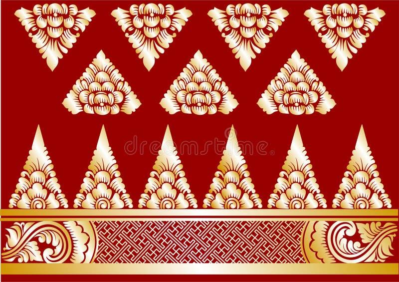 Wektorowi Złociści balijczyków ornamenty obraz stock