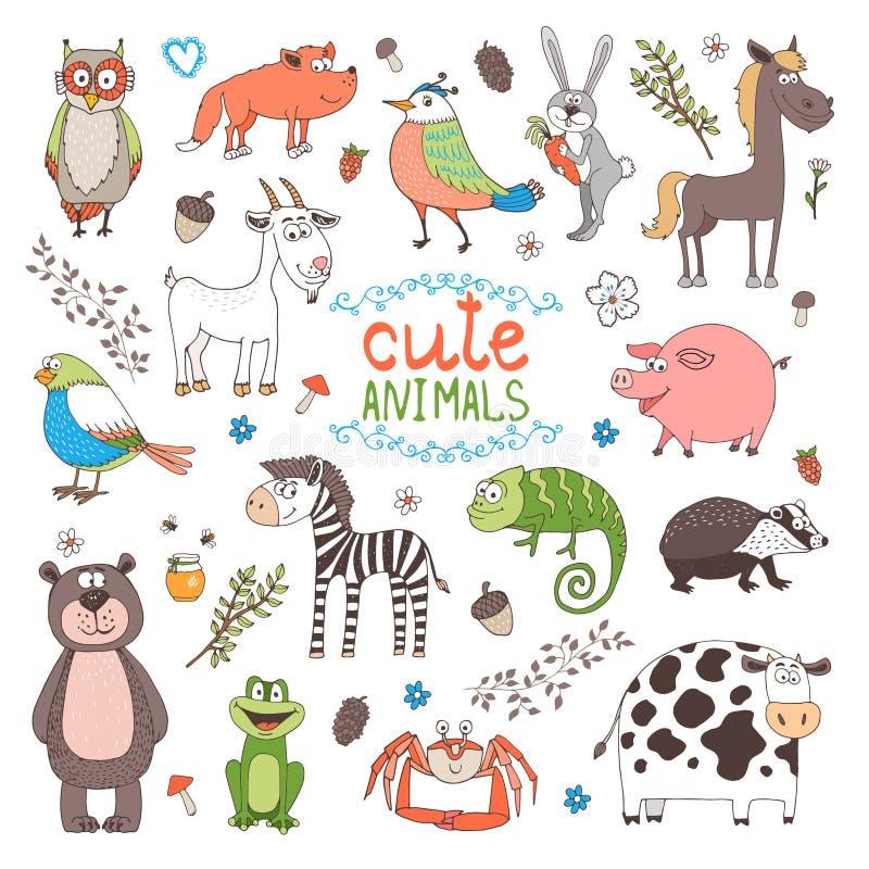 Wektorowi zwierzęta royalty ilustracja