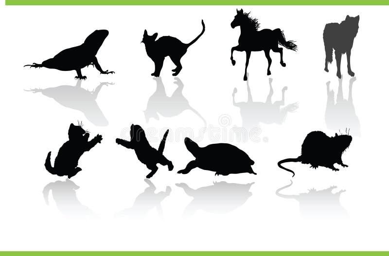 Wektorowi Zwierzęta Inkasowi Zdjęcia Stock