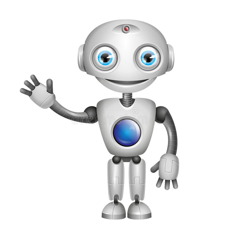 Wektorowy Śliczny robot ilustracja wektor