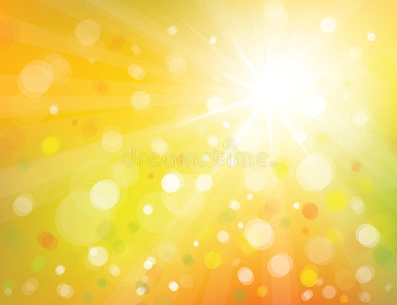 Wektorowy światła słonecznego tło. ilustracja wektor