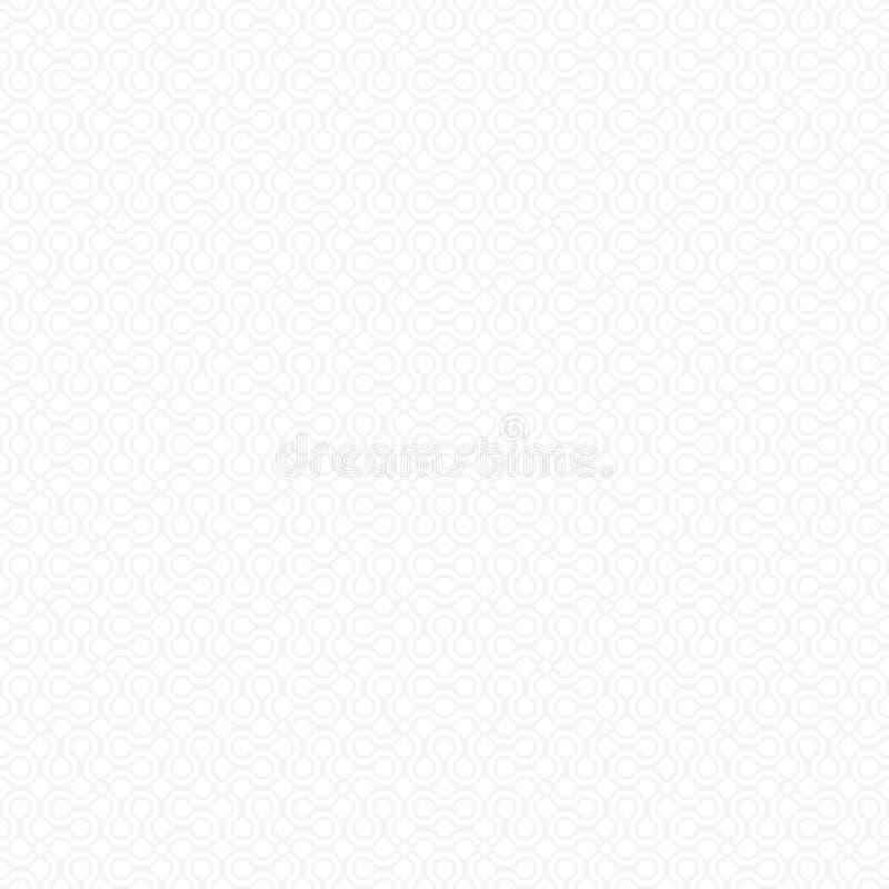 Wektorowy światło białe - popielaty monochromatyczny abstrakcjonistyczny geometryczny bezszwowy wzór dla tło, zawijającego papier ilustracja wektor