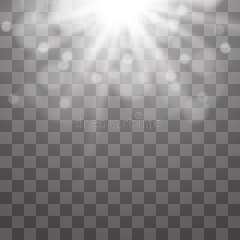 Wektorowy światło reflektorów Lekki skutek obrazy royalty free