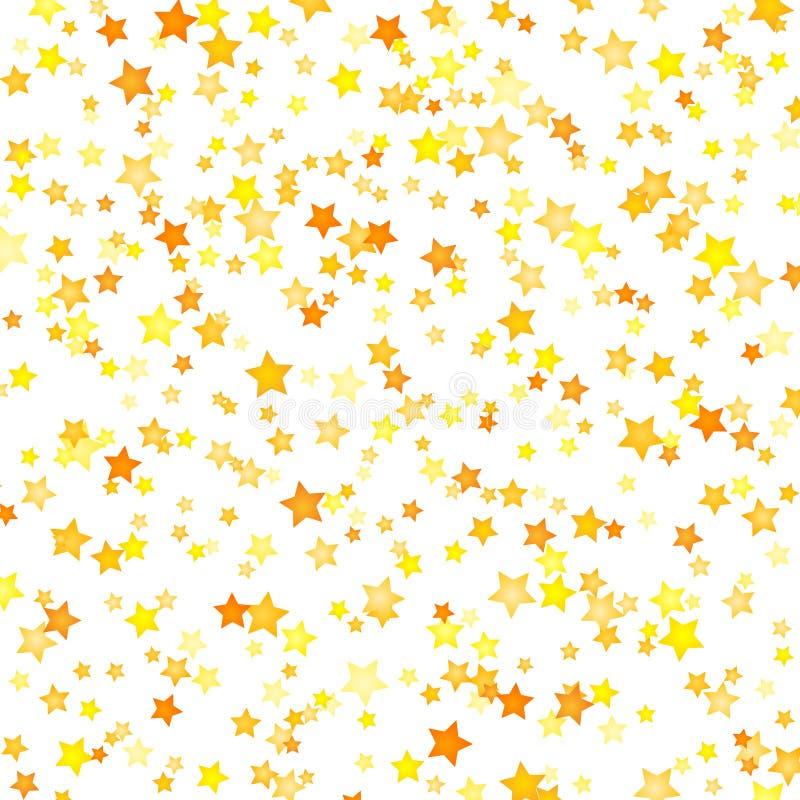 Wektorowy żółty gwiazdy tła element w mieszkanie stylu royalty ilustracja