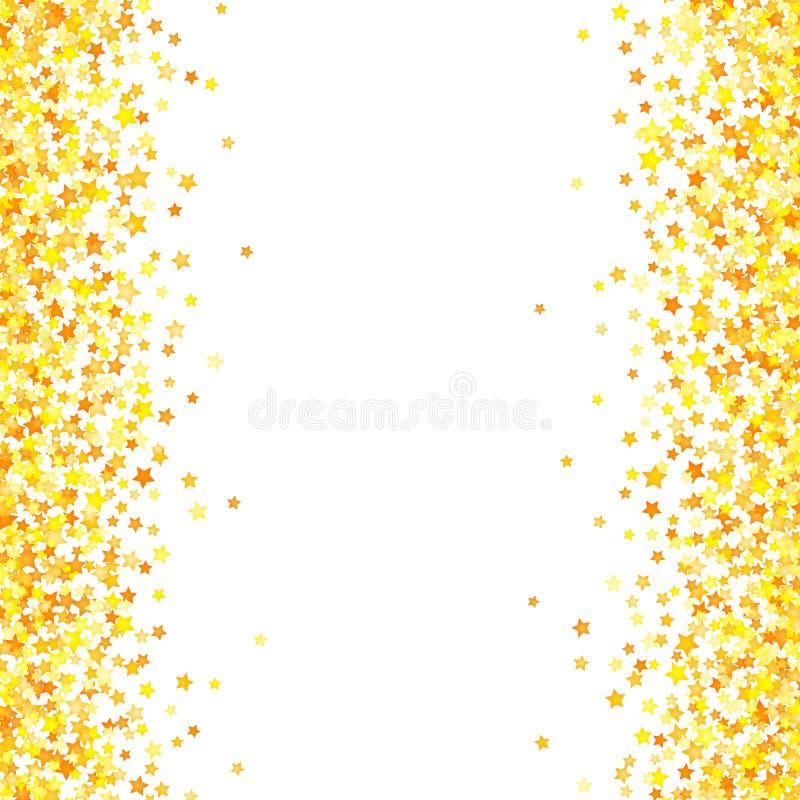 Wektorowy żółty gwiazdy tła element w mieszkanie stylu ilustracji