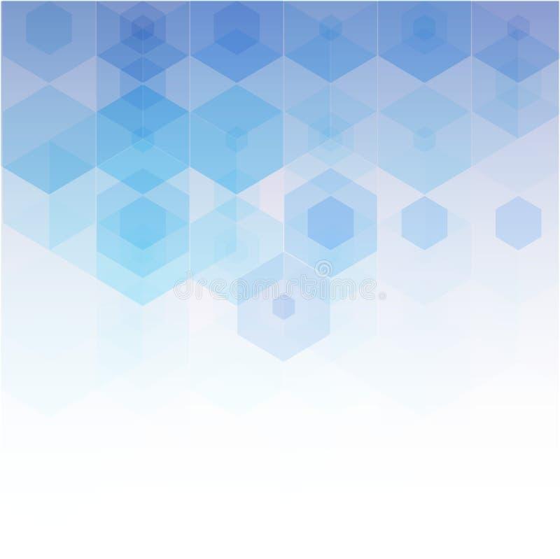 Wektorowy Abstrakcjonistycznej nauki tło Sześciokąta geometryczny projekt ilustracji
