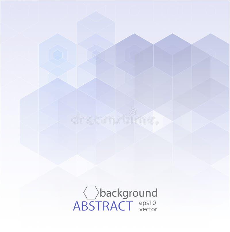 Wektorowy Abstrakcjonistycznej nauki tło Sześciokąta geometryczny projekt 10 eps ilustracji
