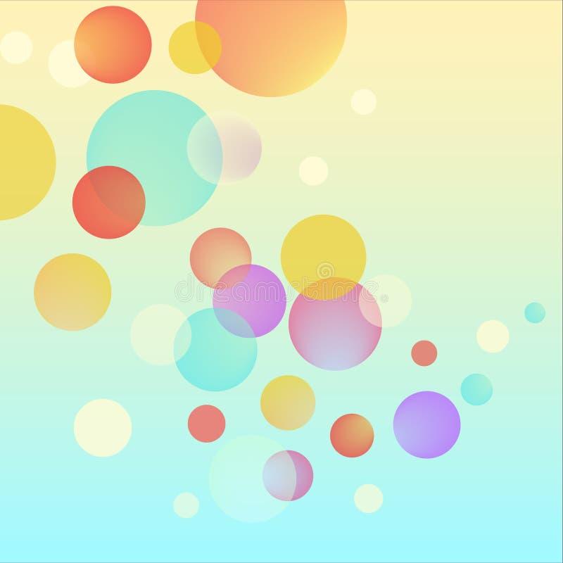 Wektorowy abstrakcjonistyczny bąbel okrąża kolorowego tło royalty ilustracja