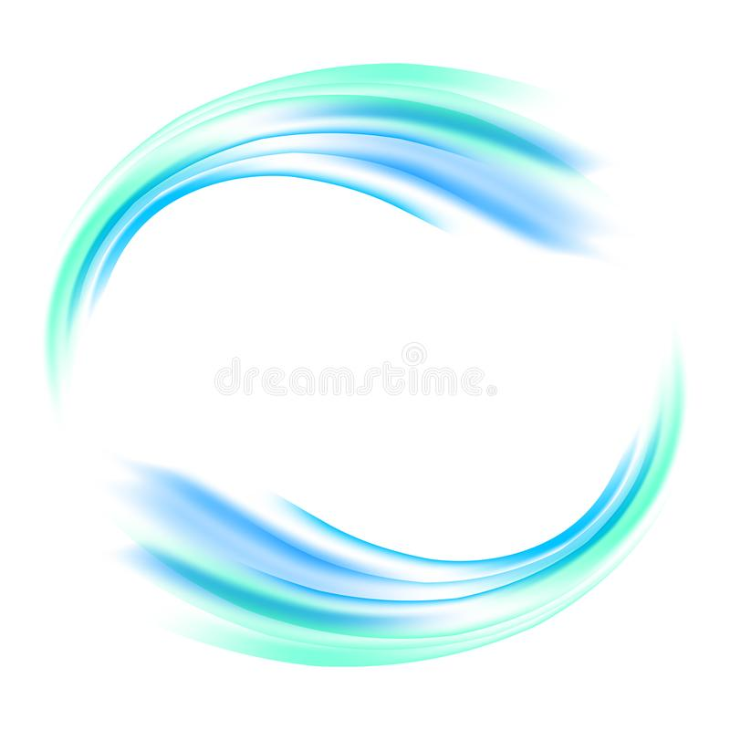 Wektorowy abstrakcjonistyczny błękitny okrąg Sztandar, ulotka lub loga projekt szablon, royalty ilustracja