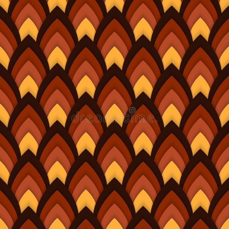 Wektorowy abstrakcjonistyczny bezszwowy wzór z śpiczastymi owalami ilustracja wektor