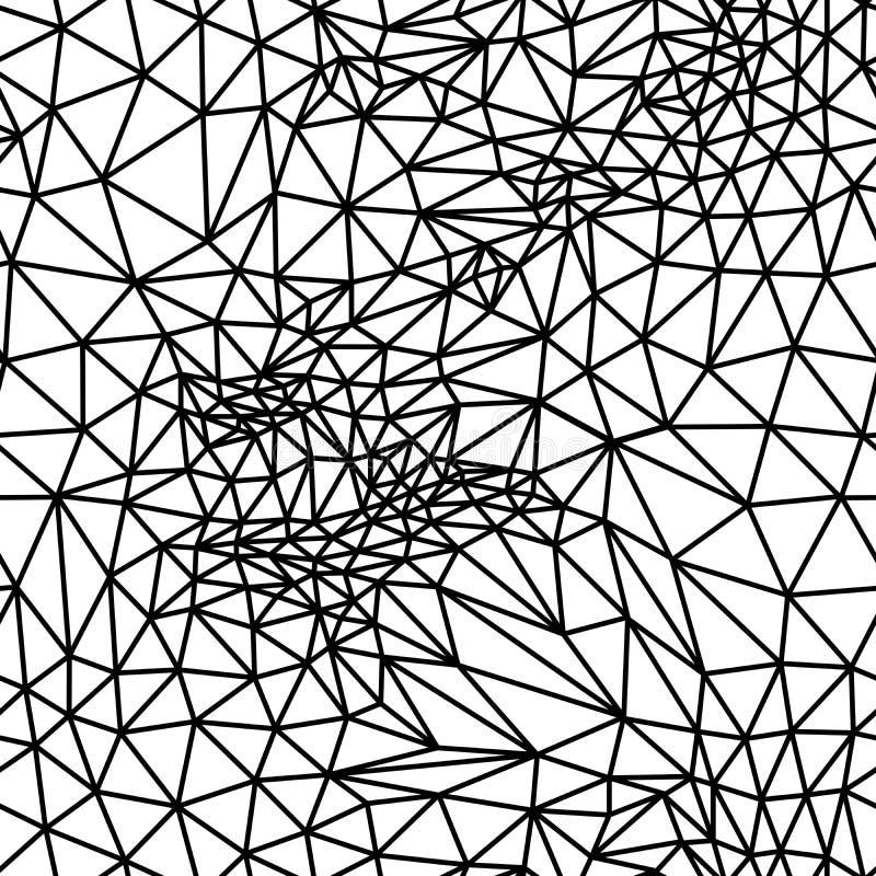 Wektorowy abstrakcjonistyczny czarny i biały bezszwowy ilustracja wektor