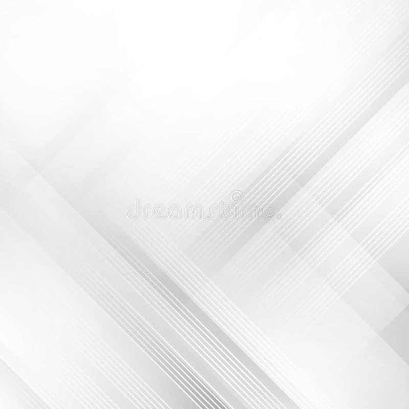Wektorowy Abstrakcjonistyczny Elegancki biały i popielaty tło abstrakta schematu Obciosuje teksturę Zadziwiające wektorowe ilustr ilustracja wektor