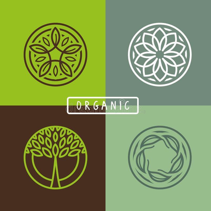 Wektorowy abstrakcjonistyczny emblemat - ekologia royalty ilustracja