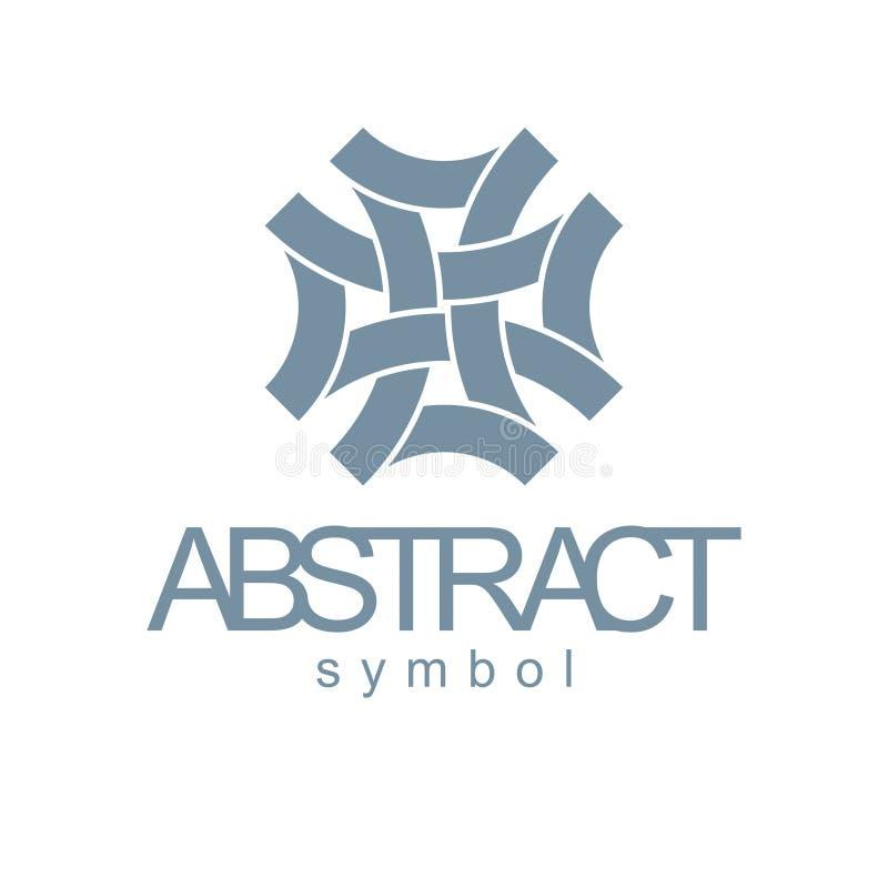 Wektorowy abstrakcjonistyczny geometryczny kształt najlepszy dla use jako biznesowy innovat ilustracji