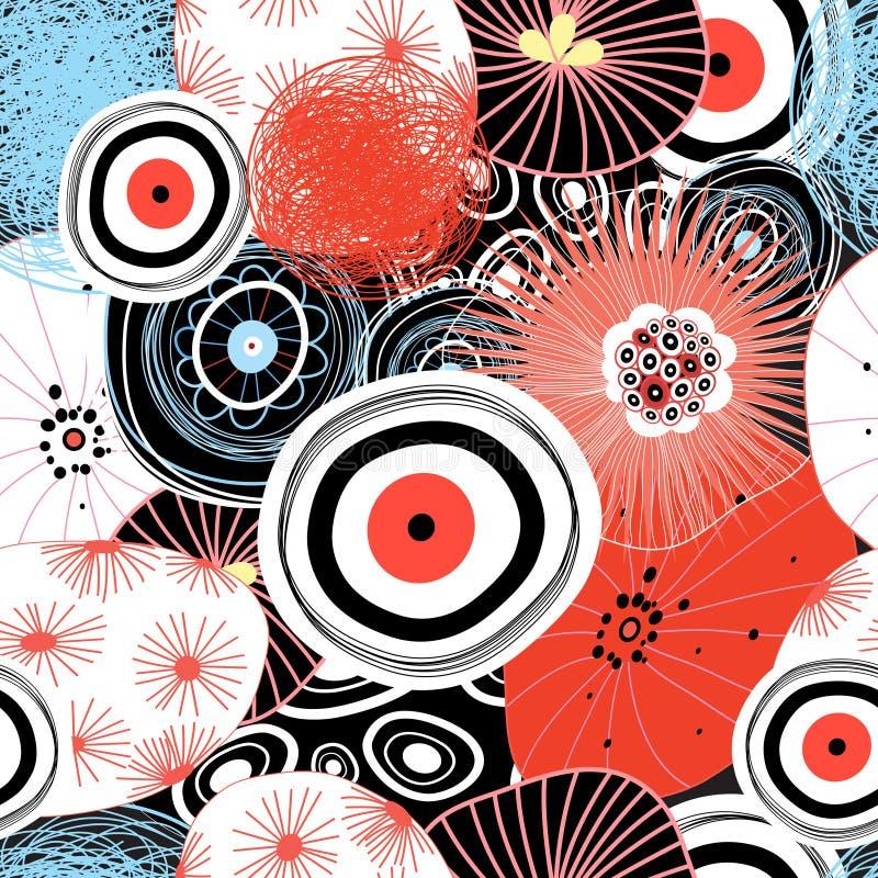 Wektorowy abstrakcjonistyczny grafika wzór ilustracji