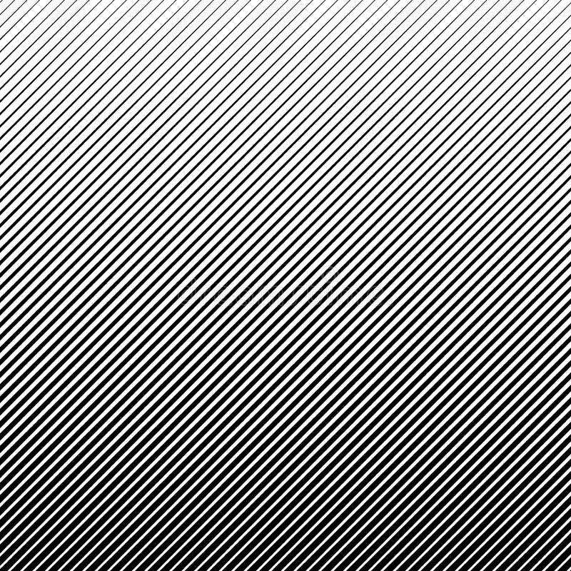 Wektorowy abstrakcjonistyczny halftone czerni tło Gradientowy retro linia wzoru projekt royalty ilustracja