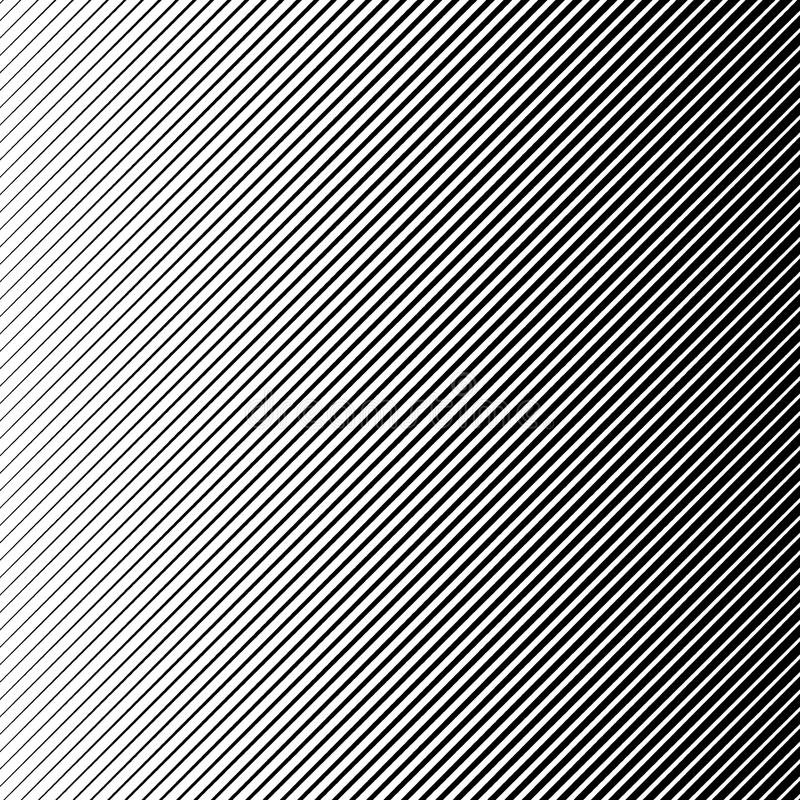 Wektorowy abstrakcjonistyczny halftone czerni tło Gradientowy retro linia wzoru projekt Monochromatyczna grafika ilustracja wektor
