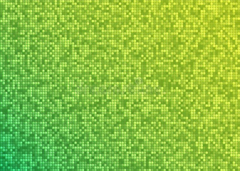 Wektorowy abstrakcjonistyczny jaskrawy mozaika gradientu zieleni koloru żółtego tło ilustracji