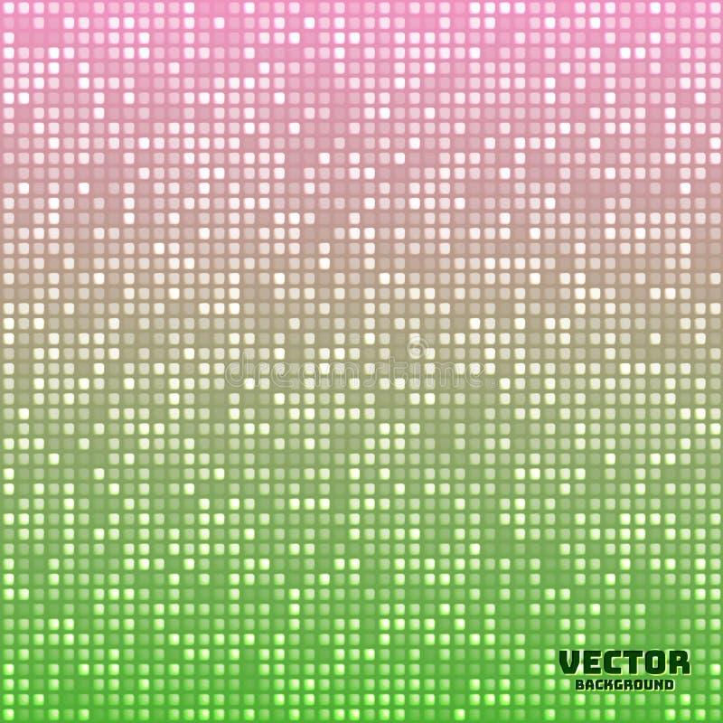 Wektorowy abstrakcjonistyczny jaskrawy mozaika gradientu zieleni menchii tło royalty ilustracja