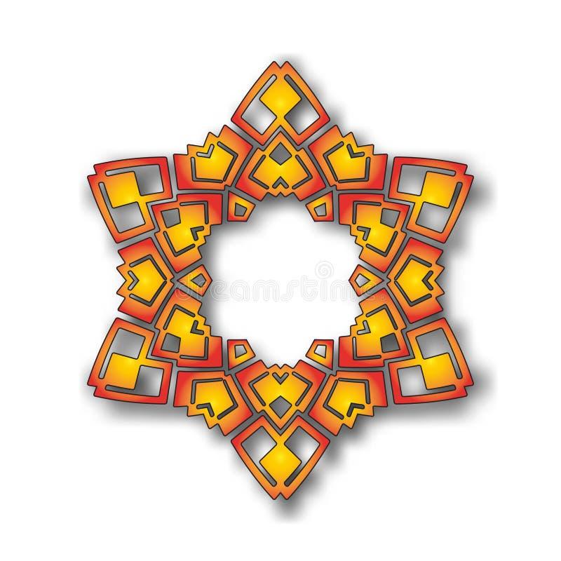 Wektorowy abstrakcjonistyczny kółkowy gwiazdowego wzoru projekta mandala styl ilustracja wektor