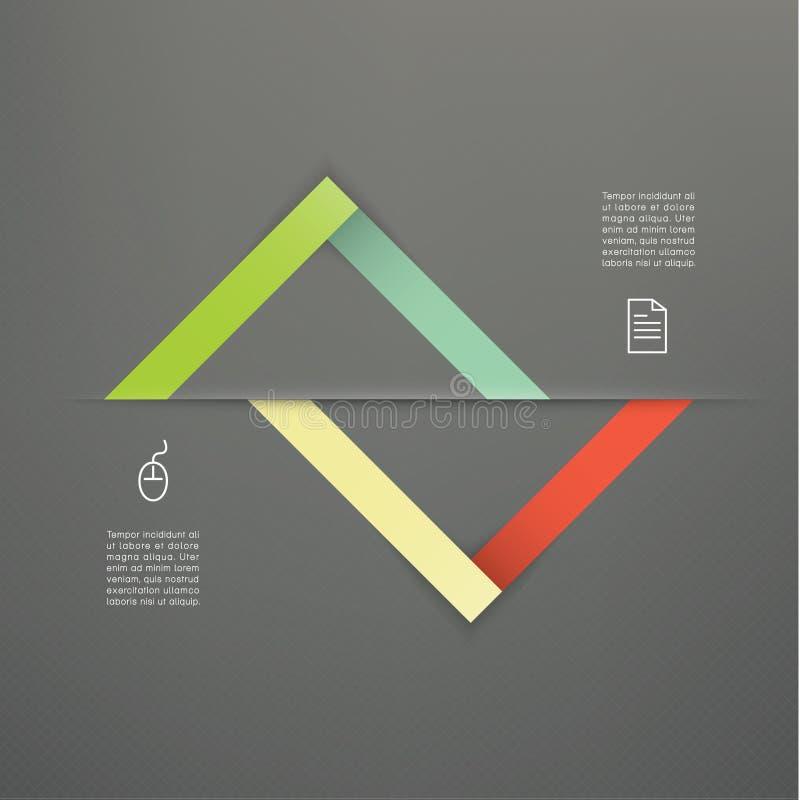 Wektorowy abstrakcjonistyczny korporacyjny szablon. Elegancki abstrakcjonistyczny symbol z ilustracja wektor