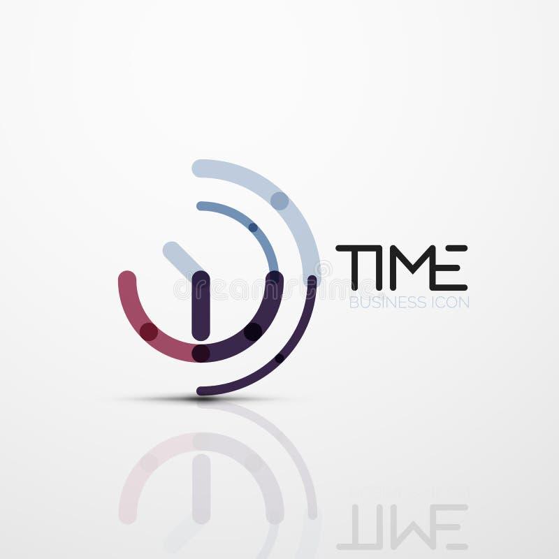 Wektorowy abstrakcjonistyczny loga pomysł, czasu pojęcie lub zegaru biznesu ikona, ilustracji