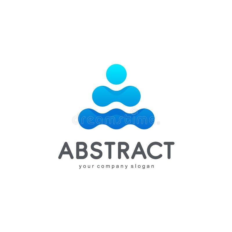 Wektorowy abstrakcjonistyczny loga projekt dla biznesu ilustracja wektor