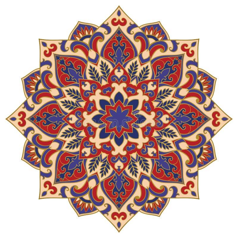 Wektorowy abstrakcjonistyczny mandala royalty ilustracja