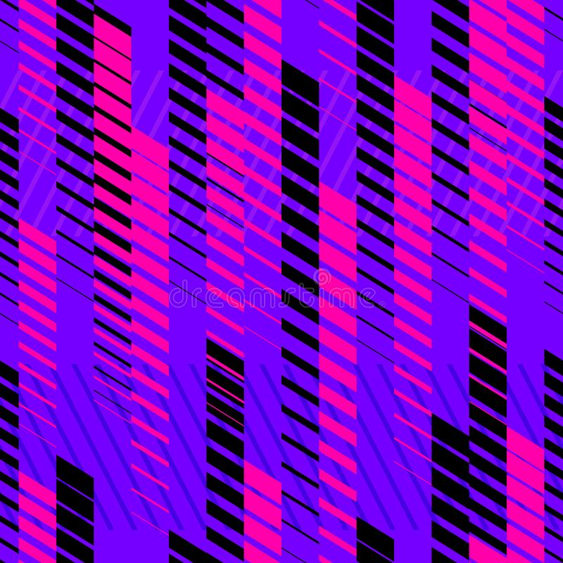 Wektorowy abstrakcjonistyczny neonowy sporta wz?r z fading liniami, ?lada, halftone lampasy royalty ilustracja