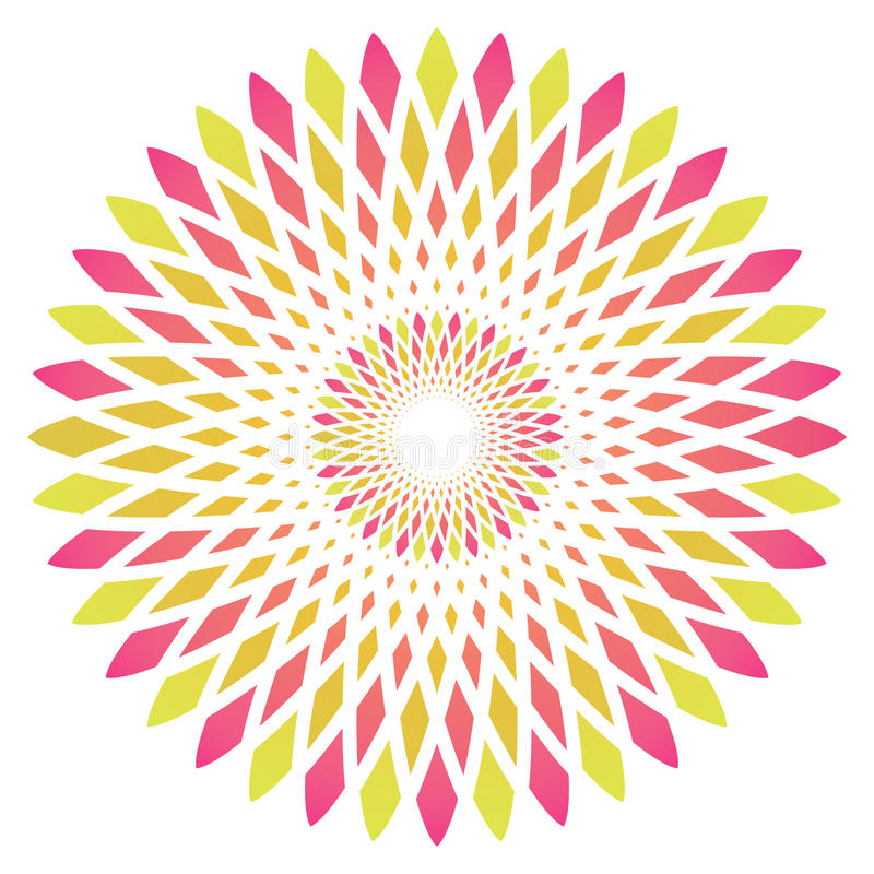 Wektorowy abstrakcjonistyczny okręgu kwiat royalty ilustracja