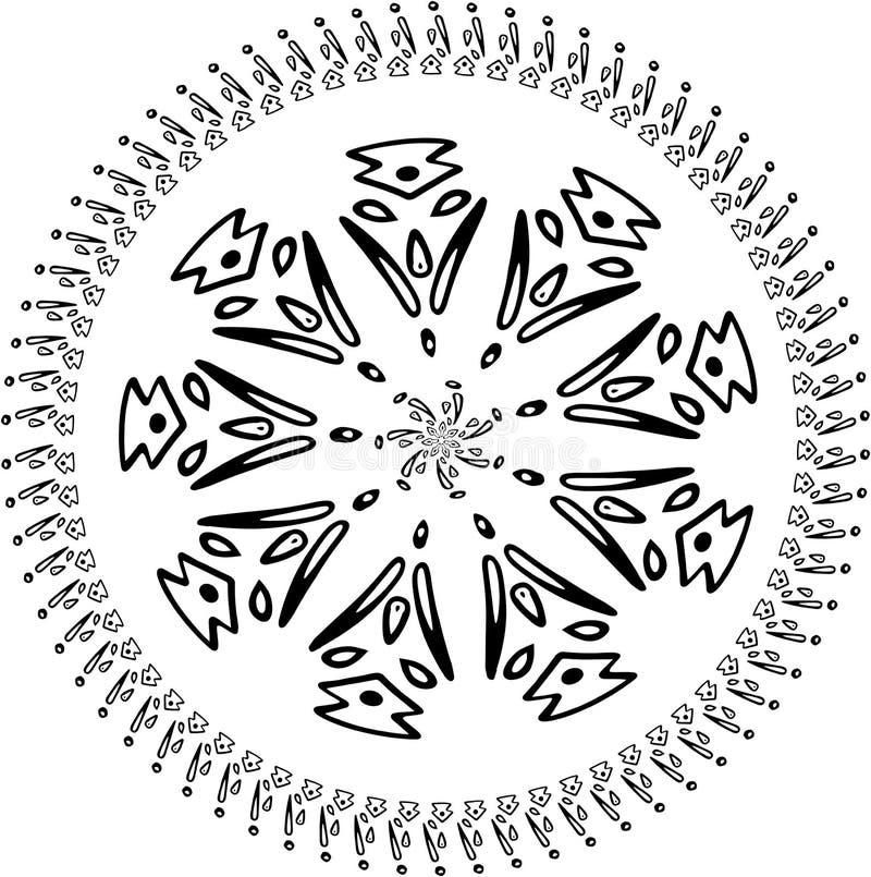 Wektorowy Abstrakcjonistyczny p?atek ?niegu geometryczny mandala Bo?e Narodzenia Znak b??kitni p?atki ?niegu Wakacyjny projekt ilustracja wektor