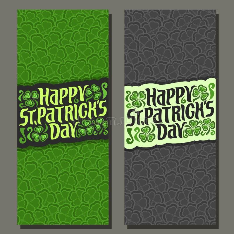 Wektorowy abstrakcjonistyczny pionowo sztandar dla St Patrick ` s dnia ilustracja wektor