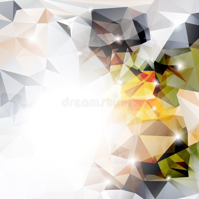 Wektorowy abstrakcjonistyczny poligonalny tło ilustracja wektor
