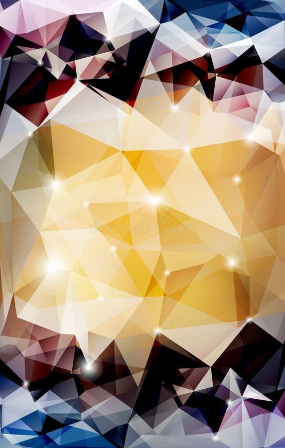 Wektorowy abstrakcjonistyczny poligonalny tło royalty ilustracja