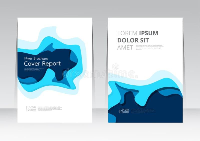 Wektorowy abstrakcjonistyczny projekt ramowej pokrywy raportu plakata szablon ilustracja wektor