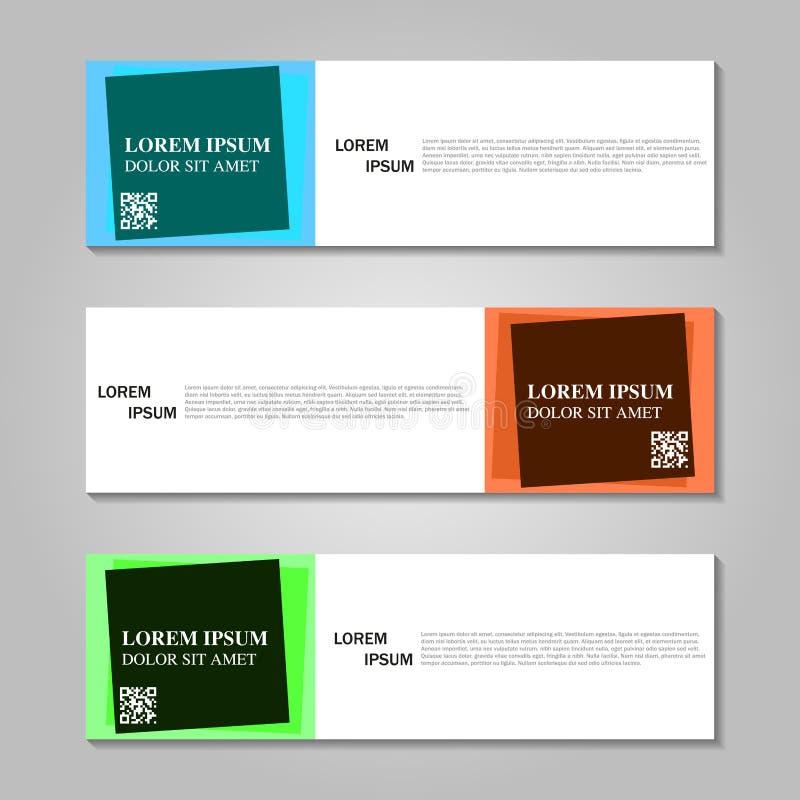 Download Wektorowy Abstrakcjonistyczny Projekta Sztandaru Szablon Ilustracja Wektor - Ilustracja złożonej z sztandary, kreatywnie: 106918311