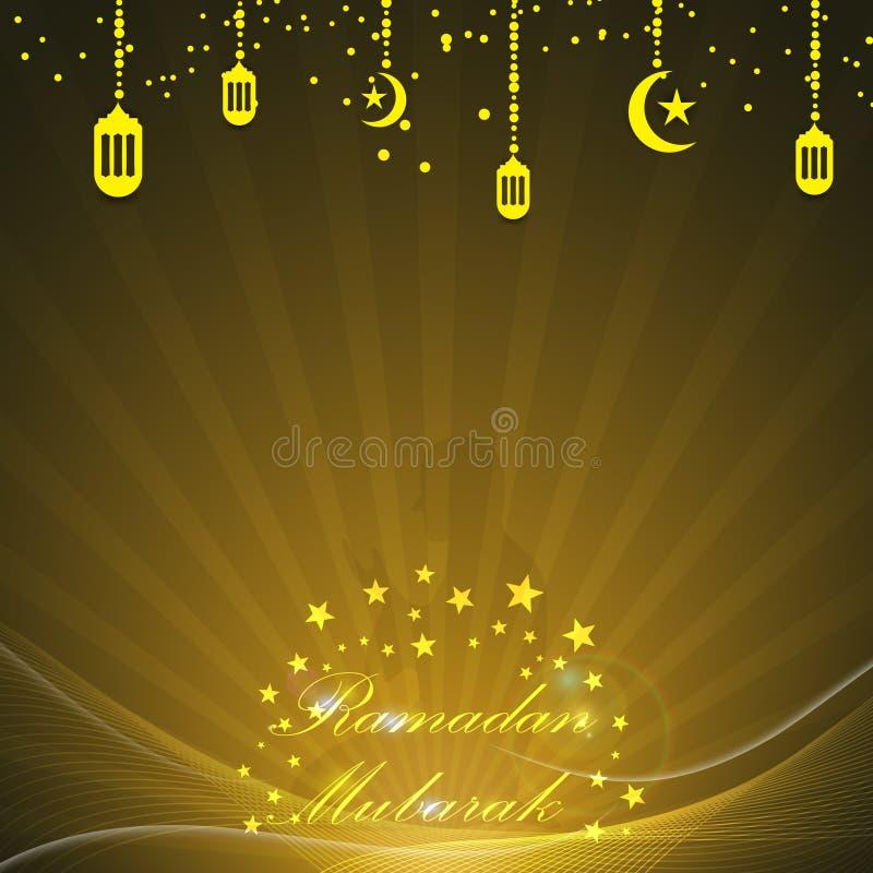 Wektorowy abstrakcjonistyczny Ramadan Mubarak tło ilustracji