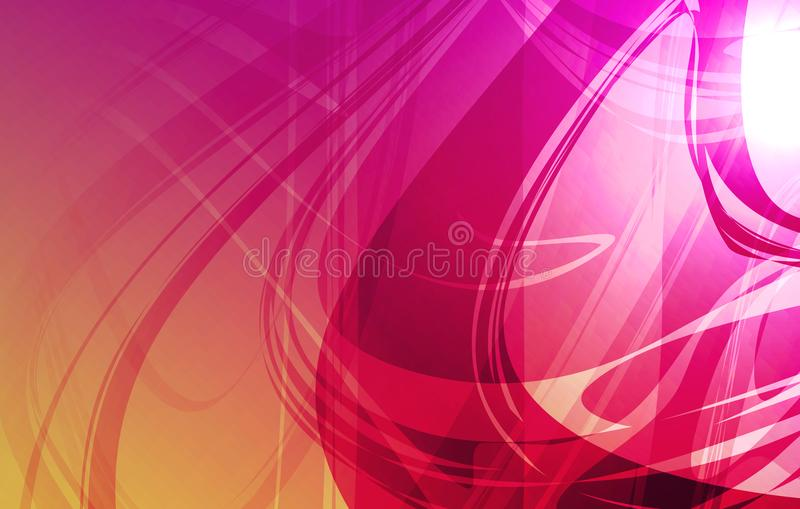Wektorowy abstrakcjonistyczny stubarwny ocieniony falisty tło z oświetleniowymi skutkami, wektorowa ilustracja royalty ilustracja