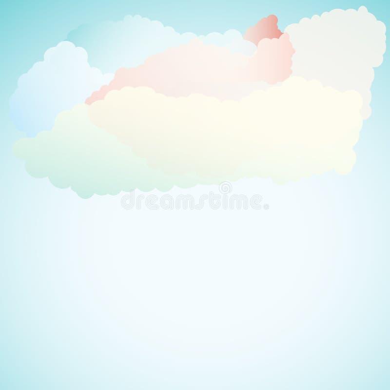 Download Wektorowy Abstrakcjonistyczny Tło Komponujący Chmury I Ilustracja Wektor - Ilustracja złożonej z foremność, mowa: 42525777