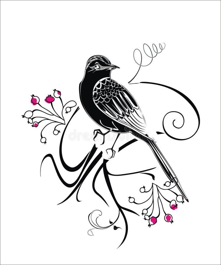 Wektorowy abstrakcjonistyczny tło z ptakami zdjęcie royalty free