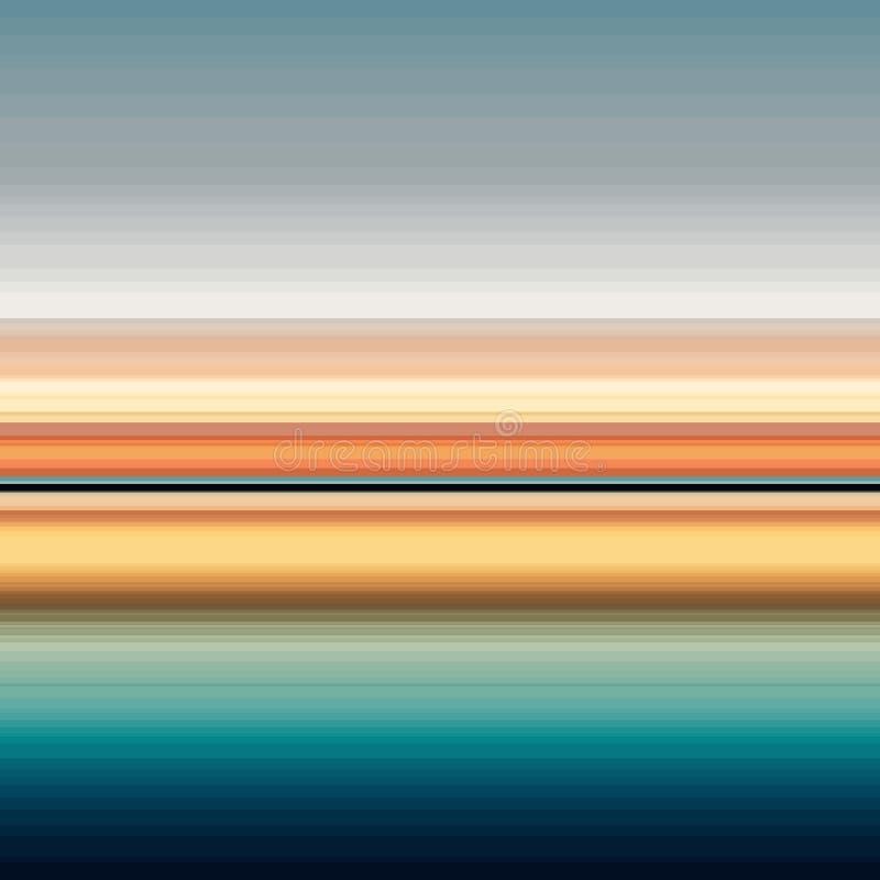 Wektorowy abstrakcjonistyczny tło z sensem lato, royalty ilustracja