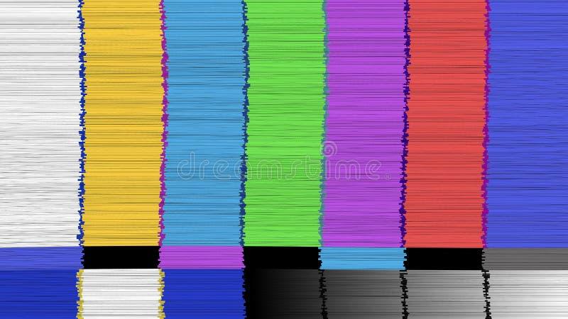 Wektorowy abstrakcjonistyczny tło Zniekształcająca usterka TV Potomek sieć Digilal Żadny sygnał ilustracji