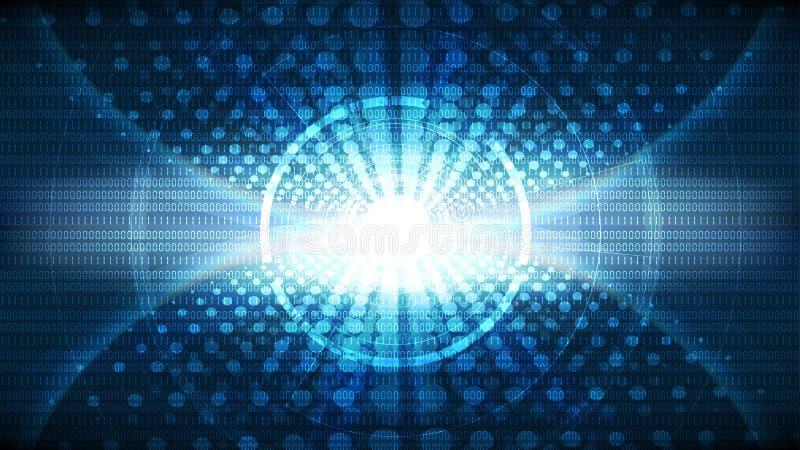 Wektorowy abstrakcjonistyczny technologiczny globalny podłączeniowy tło ilustracja wektor