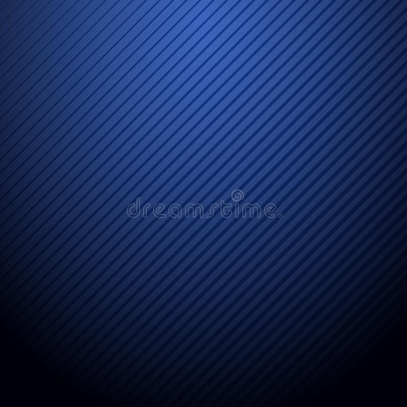 Wektorowy Abstrakcjonistyczny zmrok - błękitny tło Z lampasa wzorem ilustracja wektor