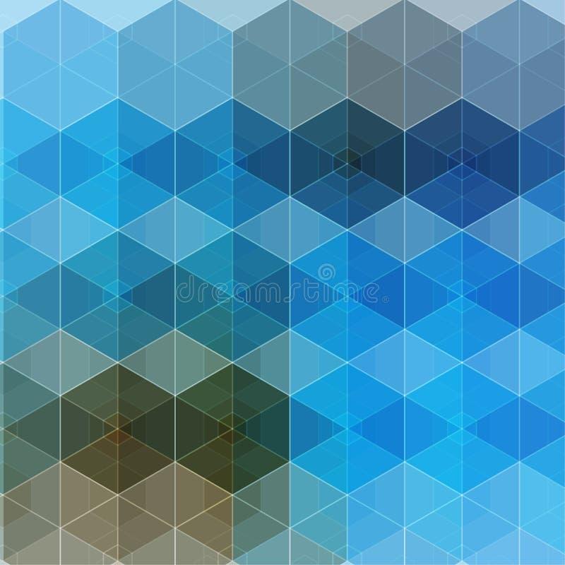 Wektorowy abstrakt boksuje tło zdjęcia stock
