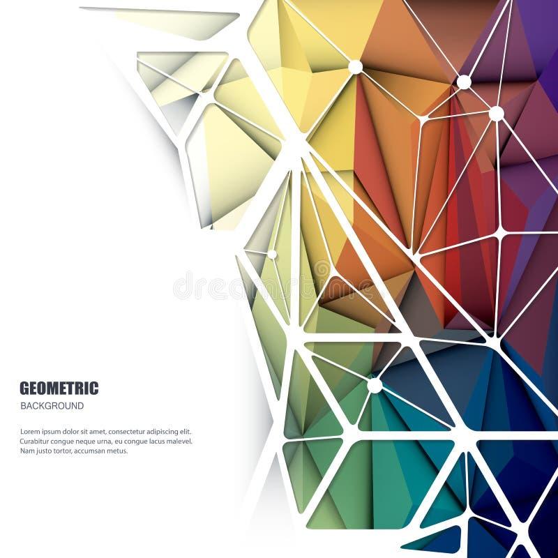Wektorowy abstrakt 3D Geometryczny, Poligonalny, trójboka wzoru kształt royalty ilustracja