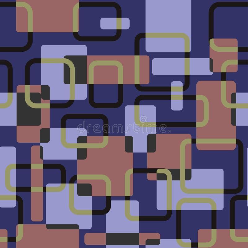 Wektorowy abstrakt obciosuje bezszwowego vitage korporacyjnego wzór ilustracji