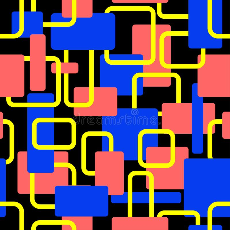 Wektorowy abstrakt obciosuje bezszwowego wystrzał sztuki wzór ilustracji